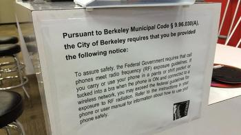 """Berkeley Cell Phone """"Right to Know"""" Ordinance, Smombie Gate 