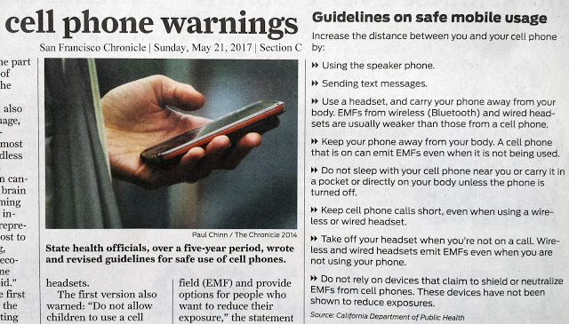 Cell Phone Safety Guidance from the California Public Health Department, Smombie Gate | 5G | EMF
