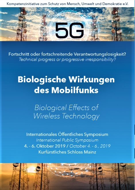Germany: Phonegate alert invited to the International Conference in Mainz in October 2019, Smombie Gate | 5G | EMF
