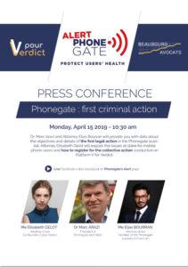 [Press Conference] Phonegate: first criminal action, Smombie Gate   5G   EMF