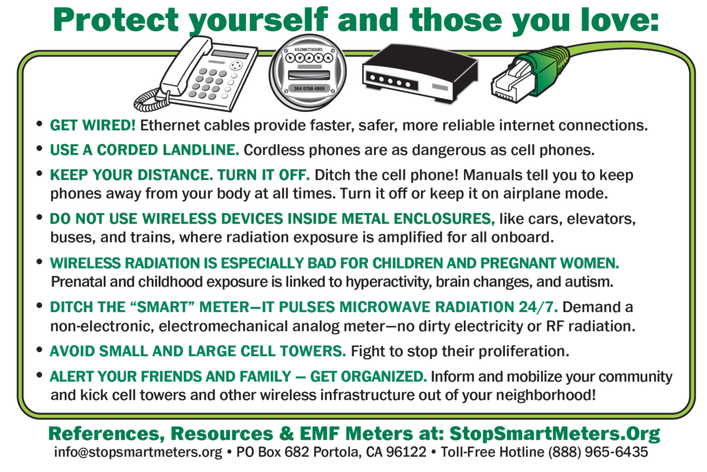 New Wireless Public Health Warning Cards Now Available from Stop Smart Meters! Online Store, Smombie Gate   5G   EMF